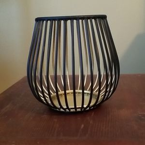 Black and Gold candleholder-small